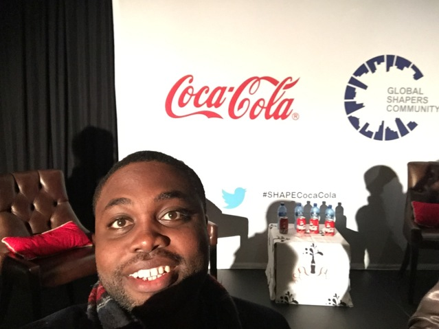 At the Coca Cola dinner