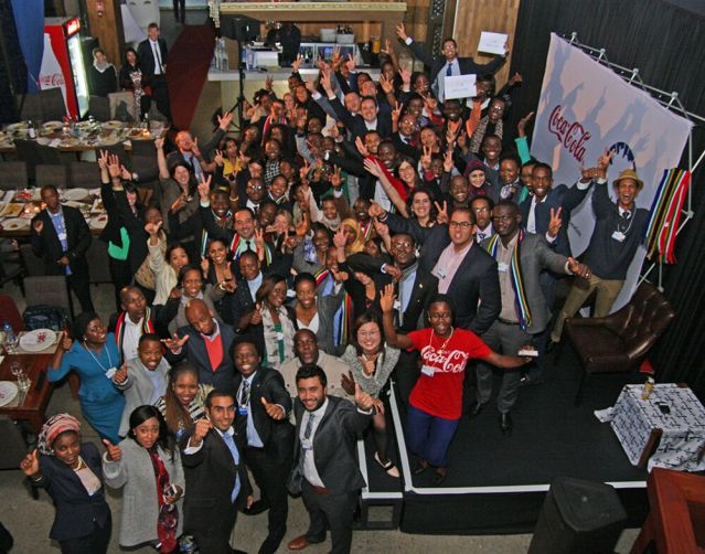 Global Shapers at the Coca Cola dinner