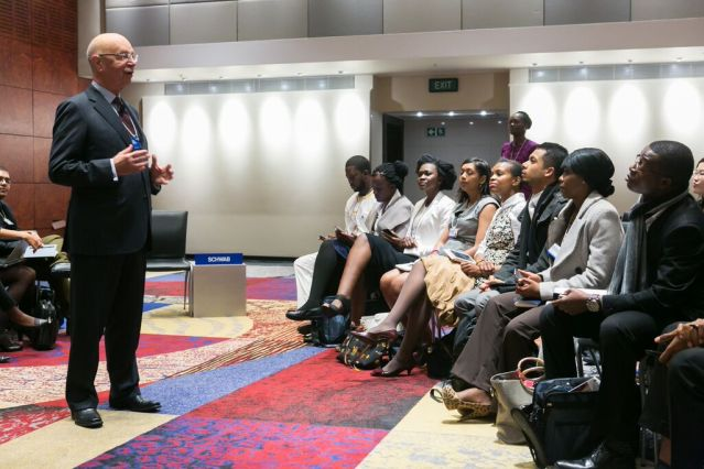 Prof Schwab (Founder of the World Economic Forum) addressing the Global Shapers